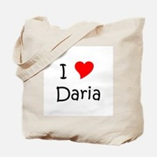 Cute I love daria Tote Bag
