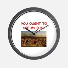 golf humor on gifts and t-shi Wall Clock