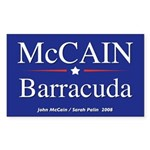 McCain Barracuda Palin Rectangle Sticker
