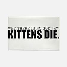 No God: Kittens Rectangle Magnet