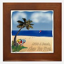 Life's a Beach Framed Tile