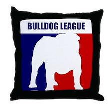 Bulldog League Throw Pillow