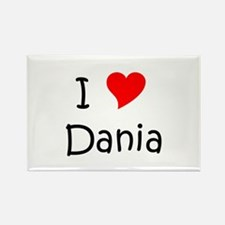 Cute Dania Rectangle Magnet