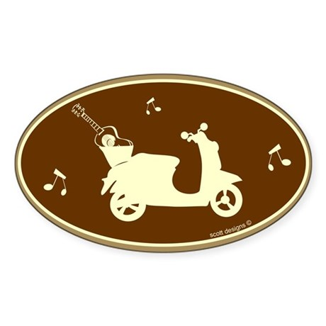 Guitar Scooter Oval Sticker