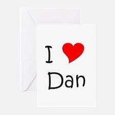 Cute I love dan Greeting Cards (Pk of 10)