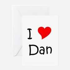 Unique I heart dan Greeting Card