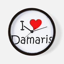Unique I love damaris Wall Clock