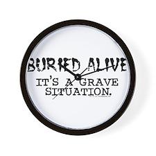 Buried Alive Wall Clock