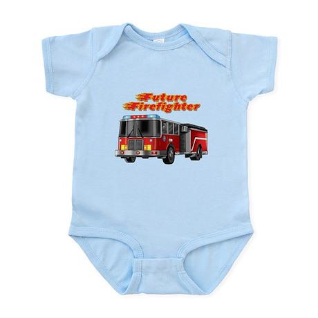 Future Firefighter Fire Truck Infant Bodysuit