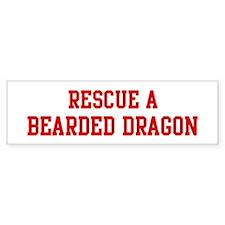 Rescue Bearded Dragon Bumper Bumper Sticker