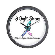 Thyroid Cancer Fight Wall Clock