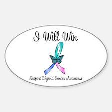 Thyroid Cancer Win Oval Sticker (10 pk)