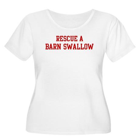 Rescue Barn Swallow Women's Plus Size Scoop Neck T