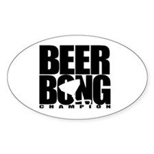 Beer Bong Oval Decal