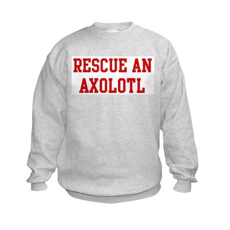Rescue Axolotl Kids Sweatshirt