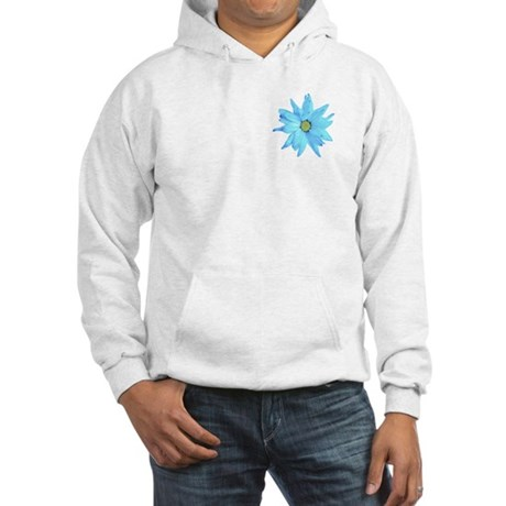 Bright Blue Flower Hooded Sweatshirt