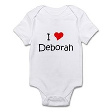Cute I love deborah Infant Bodysuit