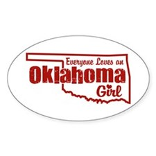 Oklahoma Girl Oval Decal