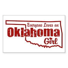 Oklahoma Girl Rectangle Decal