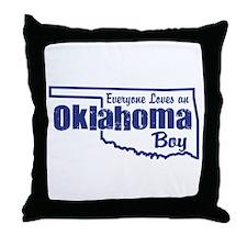 Oklahoma Boy Throw Pillow