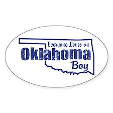 Oklahoma Boy Oval Decal