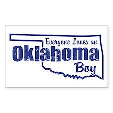 Oklahoma Boy Rectangle Decal