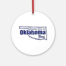 Oklahoma Boy Ornament (Round)