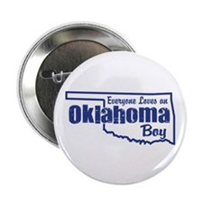 """Oklahoma Boy 2.25"""" Button"""