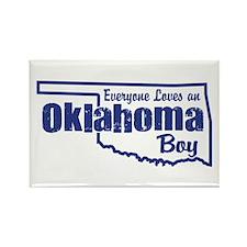 Oklahoma Boy Rectangle Magnet