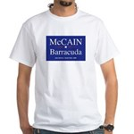 McCain Sarah Barracuda Palin White T-Shirt