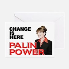"""""""Change Is Here - Palin Power"""" Greeting Card"""