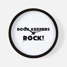 Book Keepers ROCK Wall Clock