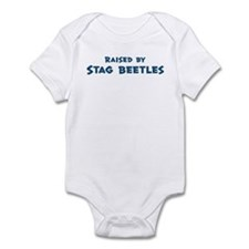 Raised by Stag Beetles Infant Bodysuit