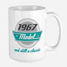 1967 Birthday Vintage Chrome Mugs