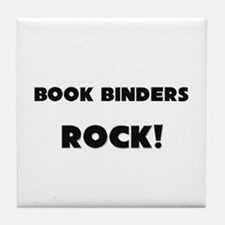 Book Binders ROCK Tile Coaster