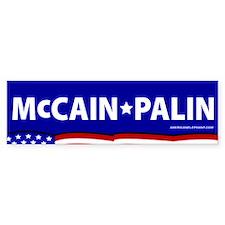 McCain-Palin Stars+Stripes Bumper Bumper Sticker