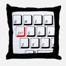 Funny Eh Throw Pillow