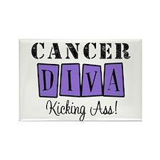 Cancer Diva (Violet) Rectangle Magnet