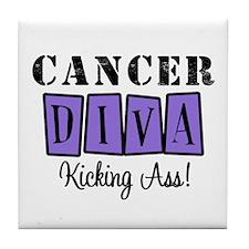 Cancer Diva (Violet) Tile Coaster