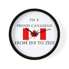 Proud Canadian Wall Clock