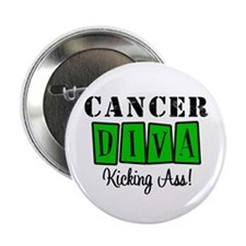 "Cancer Diva (Green) 2.25"" Button"