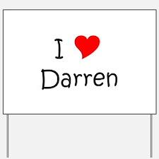 Funny Darren Yard Sign