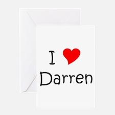 Cute I love darren Greeting Card