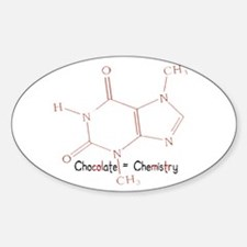 Chocolate Is Chemistry Oval Decal