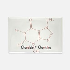 Chocolate Is Chemistry Rectangle Magnet