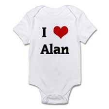 I Love Alan Infant Bodysuit