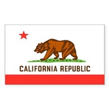 California State Flag Rectangle Decal