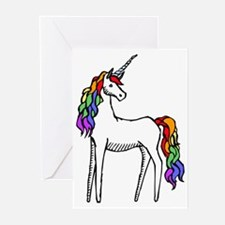 Rainbow Unicorn Greeting Cards (Pk of 10)