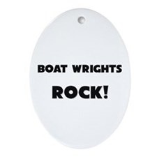 Boat Wrights ROCK Oval Ornament