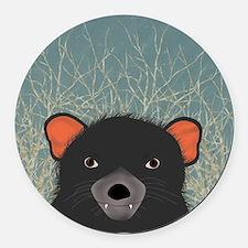 Tasmanian Devil Round Car Magnet